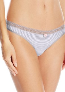 Betsey Johnson Women's Cotton Spandex Thong Panty
