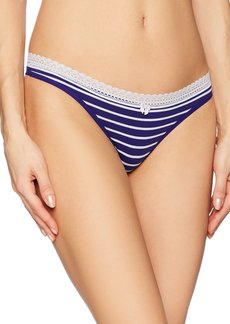 Betsey Johnson Women's Cotton Spandex Thong Panty  L