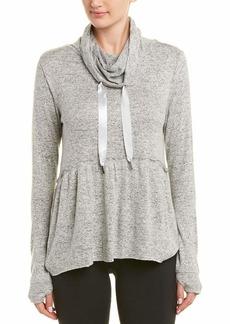 Betsey Johnson Women's Cowl Neck Peplum Sweatshirt  Extra Small