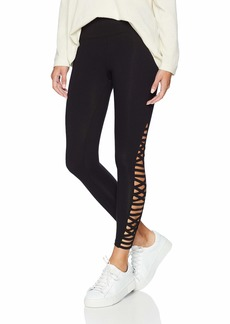 Betsey Johnson Women's Criss Cross & Straight Strap Detail 7/8 Legging  Extra Large