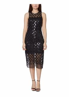 Betsey Johnson Women's Daring Dots Sequin Midi Dress