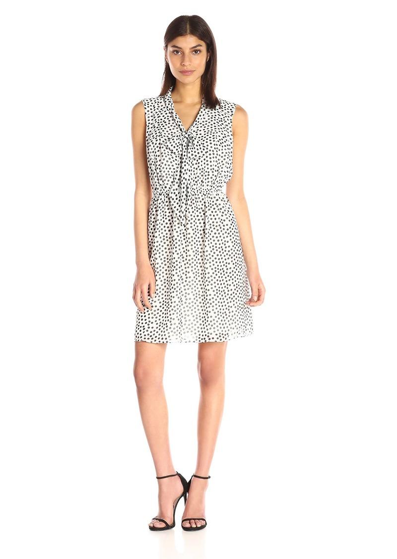 Betsey Johnson Women's Dipping Dots Chiffon Dress