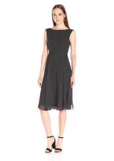 Betsey Johnson Women's Dot Print Chiffon Dress
