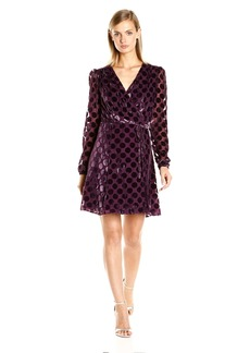 Betsey Johnson Women's Dot Velvet Burnout Dress