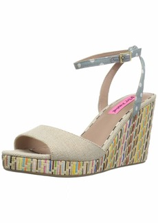Betsey Johnson Women's Dotie Wedge Sandal