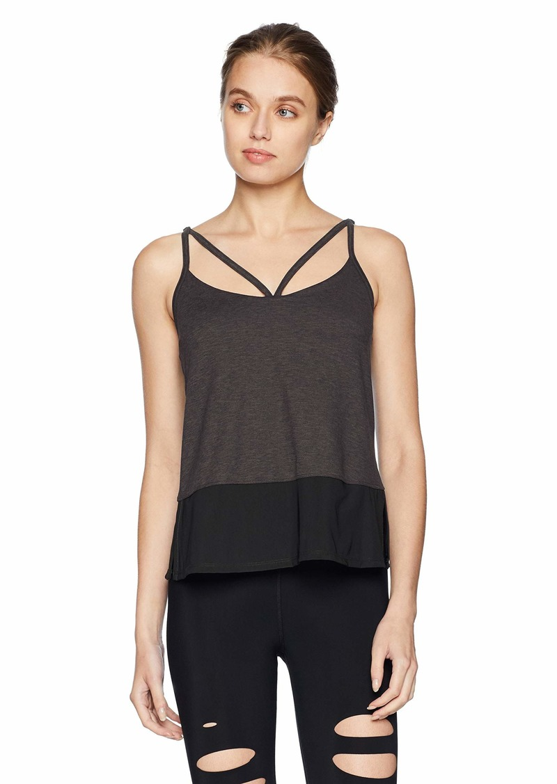 Betsey Johnson Women's Double Strap Tank with Inner Bra  EXTRA SMALL