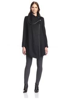 Betsey Johnson Women's Drape Coat  L