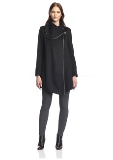 Betsey Johnson Women's Drape Coat  XL
