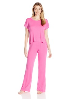 Betsey Johnson Women's Draped Back Pajama Set
