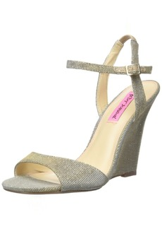 Betsey Johnson Women's Duane Wedge Sandal  8.5 M US