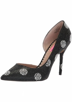 Betsey Johnson Women's Elyza Pump Black/White Polka dot