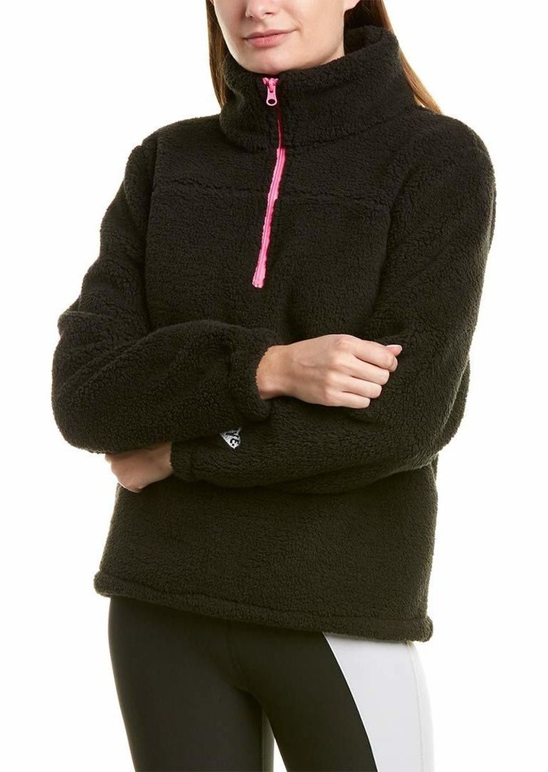Betsey Johnson Women's Embroidered Funnel Neck Pullover