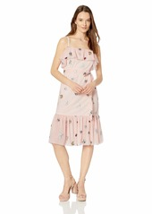 Betsey Johnson Women's Embroidered Mesh Dress Bare essential Multi