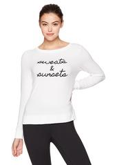 Betsey Johnson Women's Embroidery Logo Lightweight Pullover  XL