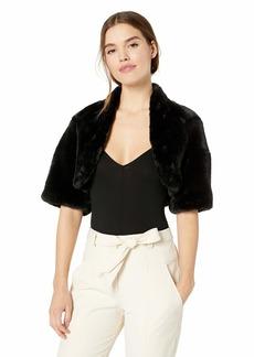 Betsey Johnson Women's Faux Fur Bolero  L