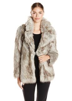 Betsey Johnson Women's Faux Fur Coat  arge