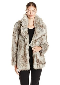 Betsey Johnson Women's Faux Fur Coat  X-Small
