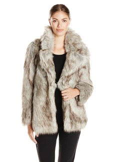 Betsey Johnson Women's Faux Fur Coat  X-Small