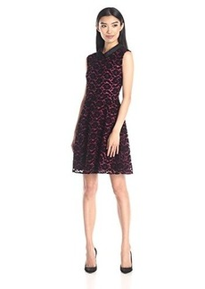 Betsey Johnson Women's Flock Lace Fit and Flare Dress