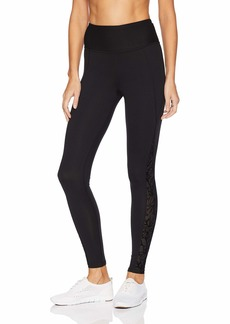 Betsey Johnson Women's Flocked mesh Insert Legging