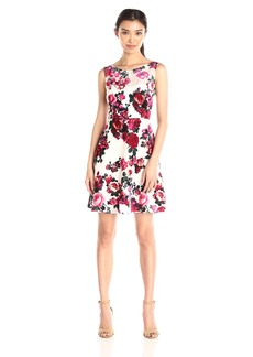 Betsey Johnson Women's Floral Fit-and-Flare Dress