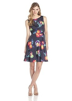 Betsey Johnson Women's Floral Fit and Flare Dress