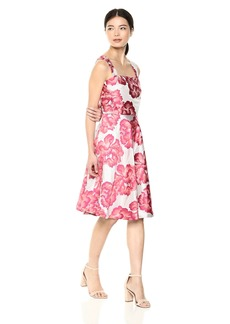 Betsey Johnson Women's Floral Fit and Flare Party Dress