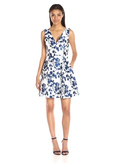 Betsey Johnson Women's Floral-Jacquard Dress