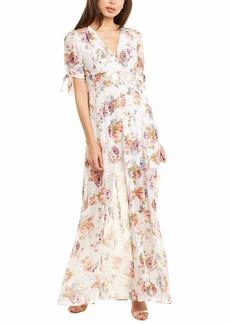 Betsey Johnson Women's Floral Maxi Button Down Shirt Dress
