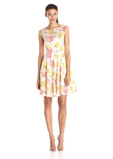Betsey Johnson Women's Floral Print Chiffon Dress