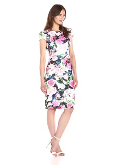 Betsey Johnson Women's Floral Printed Scuba Dress