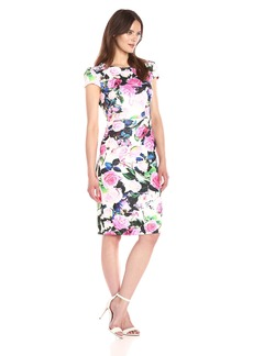 Betsey Johnson Women's Floral Printed Scuba Dress