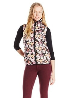 Betsey Johnson Women's Floral Puffer Vest  X-Small