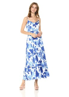 Betsey Johnson Women's Floral Satin Maxi Dress