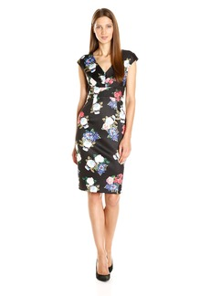 Betsey Johnson Women's Floral Scuba Dress