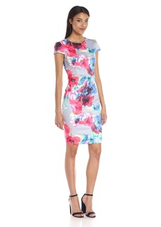 Betsey Johnson Women's Floral Scuba Midi Dress