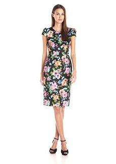 Betsey Johnson Women's Floral Scuba Sheath Dress