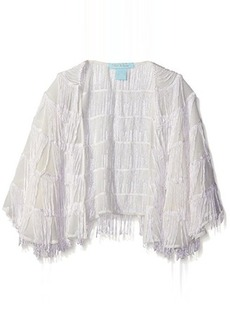 Betsey Johnson Women's Fringe Capelet