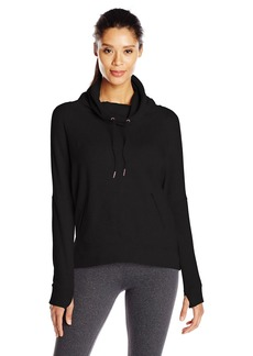 Betsey Johnson Women's Funnel Neck High Low Pullover
