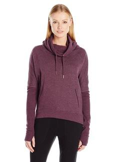 Betsey Johnson Women's Funnel Neck Pullover Fleece Back Jersey  XS
