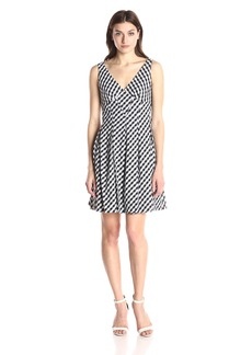 Betsey Johnson Women's Gingham Check Sleeveless Dress Black/Ivory