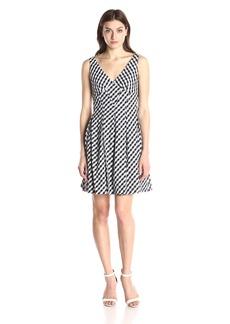 Betsey Johnson Women's Gingham Check Sleeveless Dress