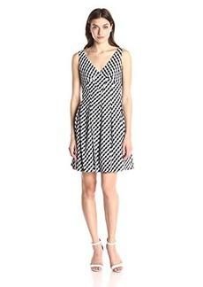 Betsey Johnson Women's Gingham Check Sleeveless Dress Black/Ivory
