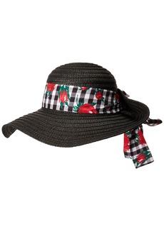 Betsey Johnson Women's Gingham Floppy Hat  one Size