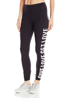 Betsey Johnson Women's Give Get Love Logo Ankle Legging  X-Small