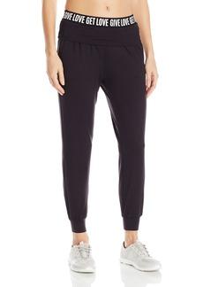 Betsey Johnson Women's Give Love Fold-Over Elastic Pant