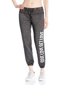 Betsey Johnson Women's Give Love Get Love Logo Pant