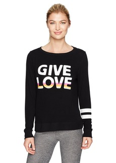 Betsey Johnson Women's Give Love Stripe Lightweight Pullover  M