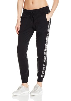 Betsey Johnson Women's Give Love Get Logo Skinny Sweatpant  L