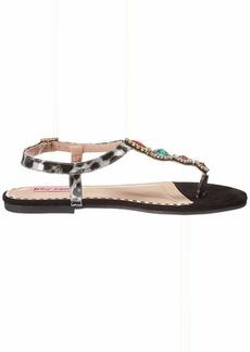 Betsey Johnson Women's GLOWW Flat Sandal   M US